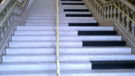 Stairs with piano design.