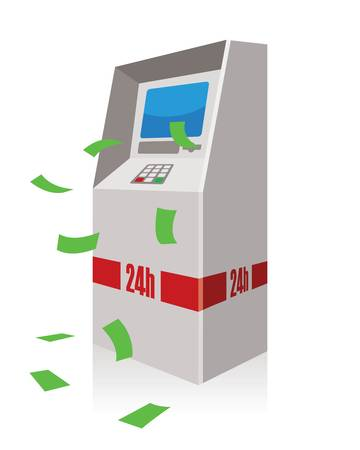 atm, automated teller machine  Vector