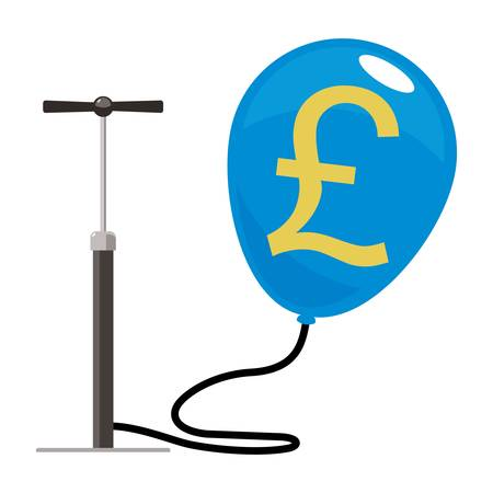 pound balloon with pump  Vector