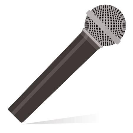 entertaining presentation: microphone isolated on white background