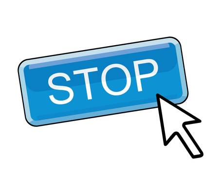stop button with cursor pointer  Vector