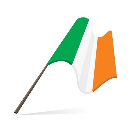 irish pride: Ireland flag, flag of Republic of Ireland  Illustration