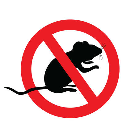 A no mice, no symbol with mouse. Vector Illustration