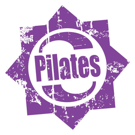 pilates grunge rubber stamp