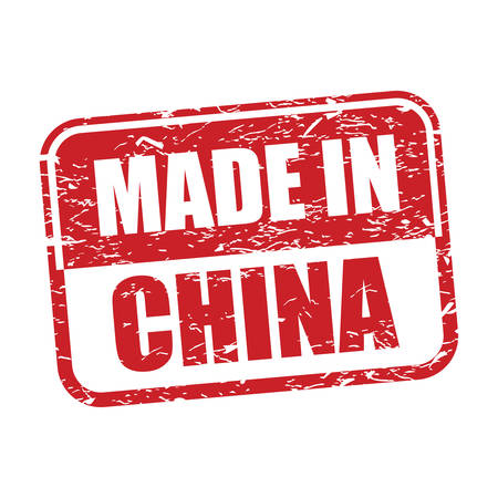 made in China red rubber stamp Illustration
