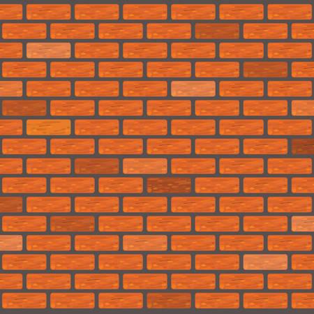 orange brick wall texture  イラスト・ベクター素材