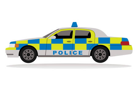 alone in the dark: Police car