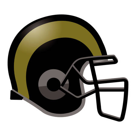 sports equipment: Football helmet in black and gold color.