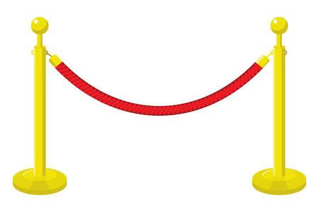 A velvet rope Illustration