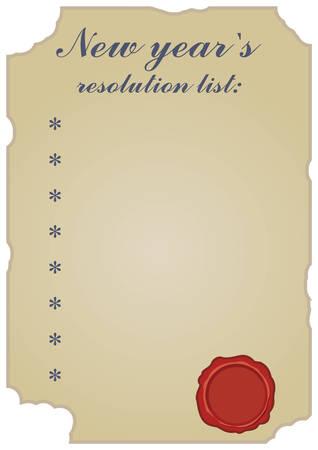 空の新しい年の解像度一覧空の赤いワックスとヴィンテージをシールします。  イラスト・ベクター素材