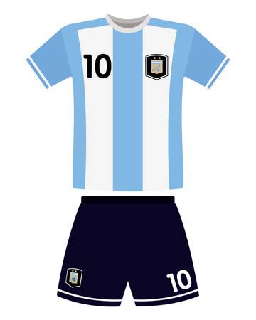 アルゼンチン サッカーのジャージーを抽象化します。
