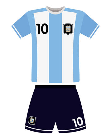 Abstract argentina football jersey