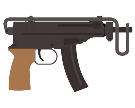 Automatic pistol Illustration