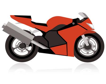抽象的な大きなタイヤのオートバイのコンセプトをレース 写真素材 - 85878974