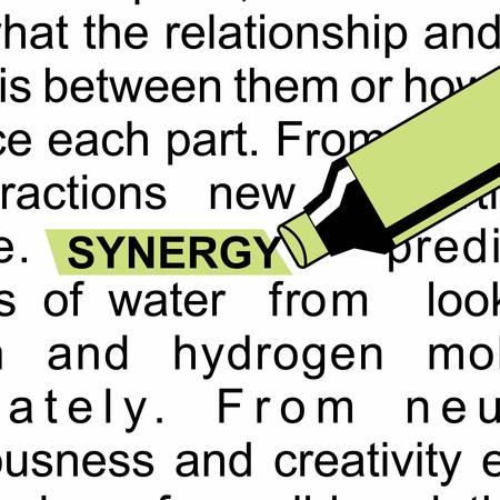 単語の相乗効果を持つ蛍光ライター。