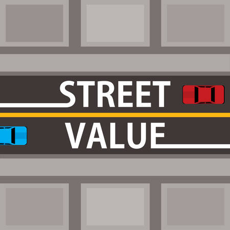 street value, financial concept 向量圖像