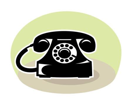A vintage telephone illustration.