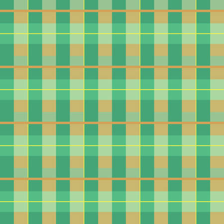 plaid fabric texture, seamless pattern, green and orange Illustration