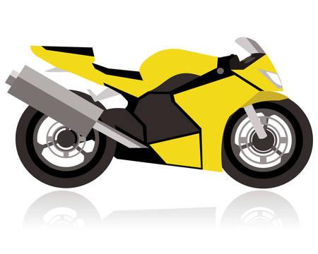抽象的な大きなタイヤのオートバイのコンセプトをレース  イラスト・ベクター素材