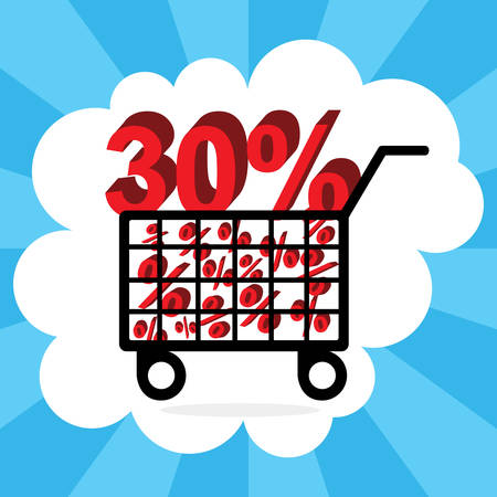 shopping cart with thirty percent discount