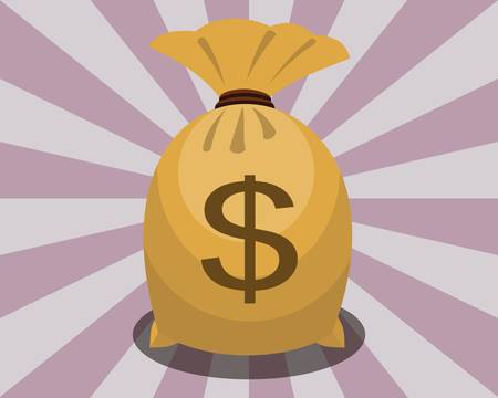 money bag with dollar sign Vector illustration. 向量圖像