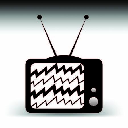 古いテレビ アンテナ漫画コンセプト、ノイズと信号
