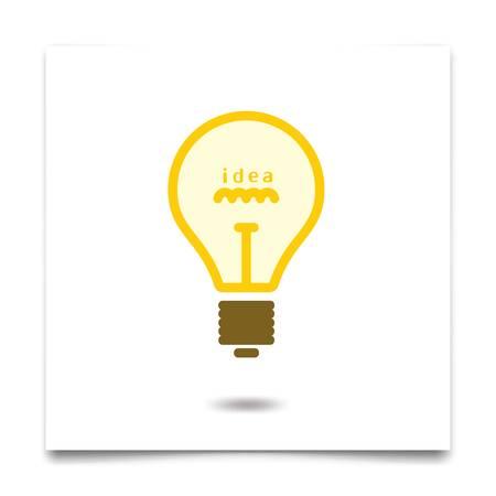電球のアイデアコンセプトベクトルイラスト。