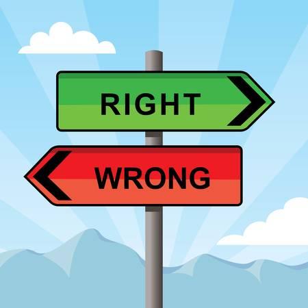 反対方向を指す方向記号、単語の左右間違い、ベクトルイラスト  イラスト・ベクター素材