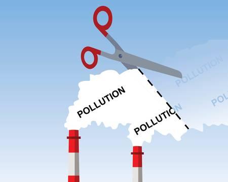 産業煙突煙、切断汚染の概念