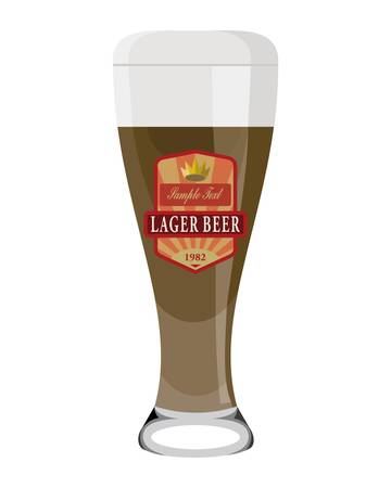 beer glass with label