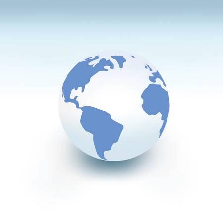 惑星地球白いボール、ベクトルのような3D
