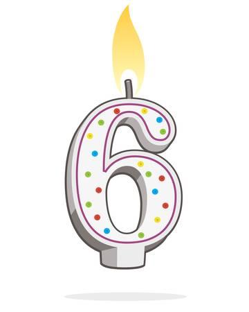 ●6番はライトアップ、誕生日キャンドルはカラフルなイラストで。