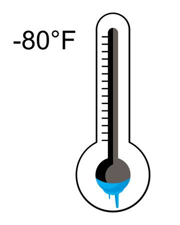 ice cold thermometer Vector illustration. 向量圖像