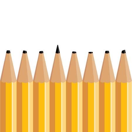 Yellow pencils illustration.