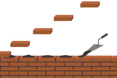 concrete block: Brick wall for construction.
