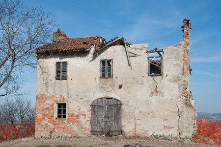 A old abandoned house in the countryside