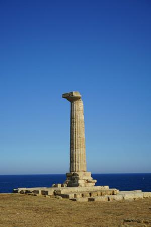 ionio: Archaeological area of Capo Colonna, Crotone - Calabria, Italy