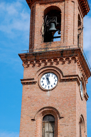 Bell tower of the Church of Serralunga, Piemonte - Italy