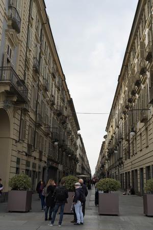 Cityscape of Turin, Italy - Via Roma Street, March 2018 Editorial