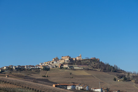 The village of La Morra on a hill of the Langhe, Piedmont - Italy