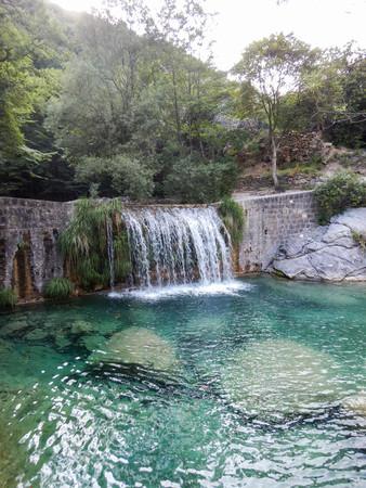 Creek Rio Barbaria, Rocchetta Nervina, Liguria - Italy Stock Photo