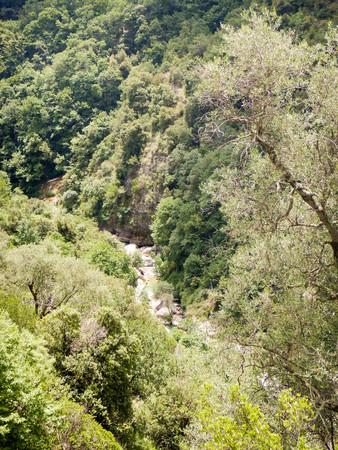 View of the Rio Barbaira stream, Rocchetta Nervina, Liguria - Italy Stock Photo