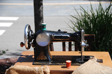 A old sewing machine
