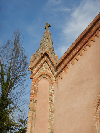 Exterior of the Church SS. Annunziata in Cerretto Langhe, Piedmont - Italy