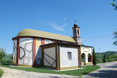 Little Church of Coazzolo Painted by David Tremlett