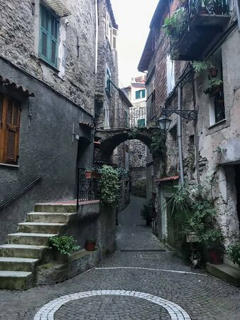 View of the village of Rocchetta Nervina in the Liguria region - Italy