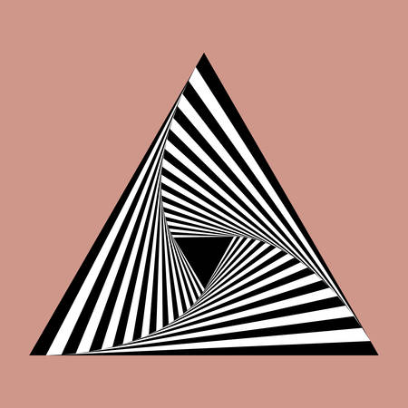 arte optico: espiral triángulo