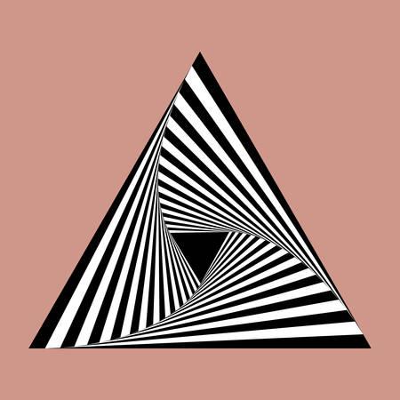 illusions: triangle spiral