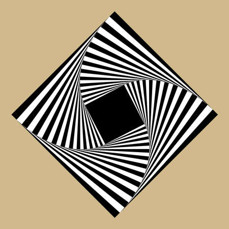 disappearing point: square spiral
