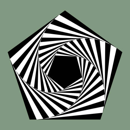 disappearing point: pentagon spiral Illustration